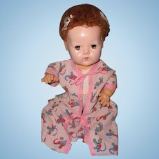 "Sweet Light Weight Bed Robe and Romper for 15"" Dy-Dee Baby or Tiny Tears Doll"