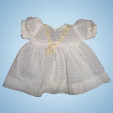 "Nice Swiss Dot Dress for Dy-Dee or Tiny Tears 11"" Baby Doll"