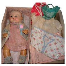 """Effanbee Dy-Dee 15"""" Baby in Sears Roebuch Box w/Accessories ~ Mold 3 Cutie"""