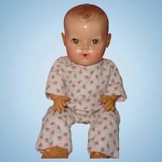 "Effanbee Dy-Dee Drop Seat Authentic Pajamas for 11"" Baby Doll"