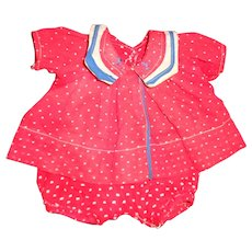 """Authentic Effanbee 2 Pc Dress Set for 16"""" Patsy Joan Composition Doll"""