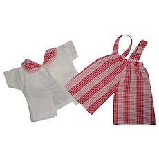 """Authentic Tiny Tears 2 pc Overall Set for 13"""" Baby Doll"""
