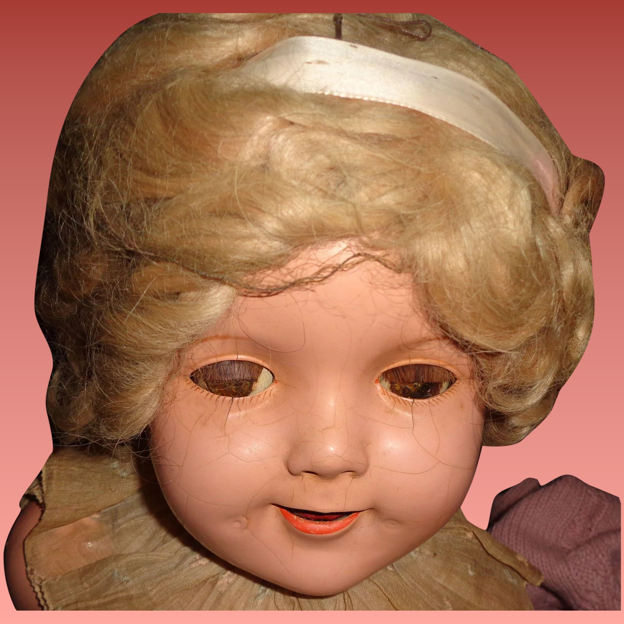 Authentic Ideal 27 Shirley Temple Doll Mohair Wig My Dolly Market