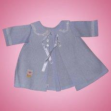"""Rare Tiny Tears Teddy Bear Coat & Bonnet Set for 18"""" Baby Doll ~ Mint"""