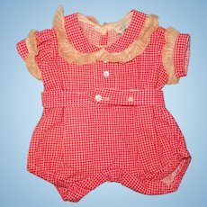 Adorable Tagged Molly'es  Romper  ~ Fits Dy-Dee or Composition Baby