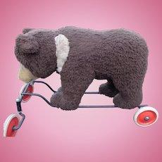Large Steiff Ride On Bear ~ Straw Stuffed