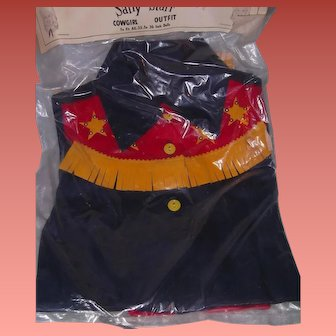 Mint Sally Starr Playpal Cow Girl Outfit Still in Package