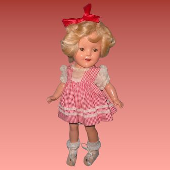 """Ideal 11"""" Shirley Temple Composition Doll ~ Cutie Pie"""