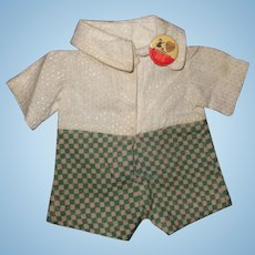 Authentic Effanbee Skippy Outfit and Pin for Composition Doll ~ Patsy Family
