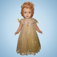 "Madame Alexander Factory Original 24"" Flowergirl Composition Doll"