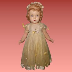 "Madame Alexander Factory Original 24"" Flowergirl Composition Doll"