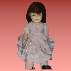 Very Pretty Early Composition Mama Doll ~ Older Girl