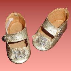 "Madame Alexander Princess Elizabeth Silver Buckle Shoes and Socks for 16"" Composition Doll"