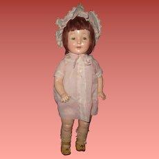"Factory Original Horsman Rosebud 19"" Composition Doll"