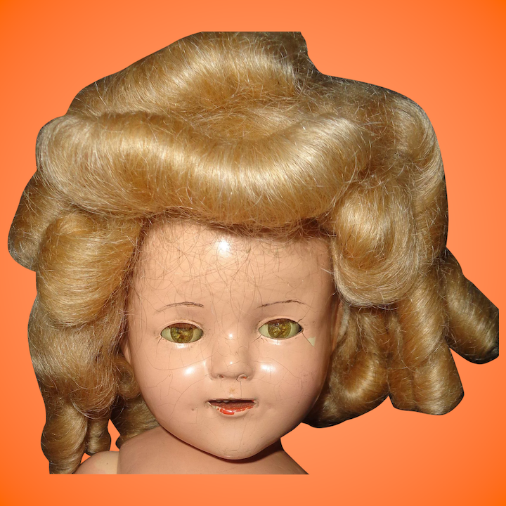 15226422506c Nice Shirley Temple Type Mohair Wig for Composition Doll ~ Lots of : My  Dolly Market   Ruby Lane