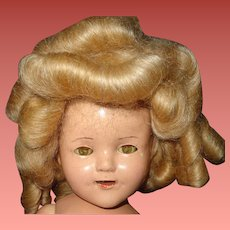 Nice Shirley Temple Type Mohair Wig for Composition Doll ~ Lots of curls