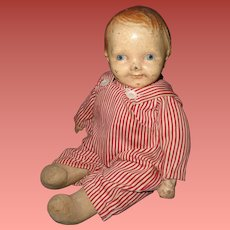 Early Composition Boy Doll ~ Sawdust filled