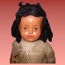 """Factory Orig. Large 25"""" Black Composition Mama Doll ~ Pretty"""