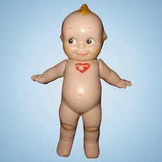 Rose O'Neill Kewpie Composition Doll ~ Blue Wings