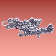 Shirley Temple 1950s Signature Doll Pin
