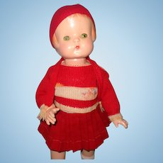 "Effanbee 19"" Patsy Ann Composition Doll ~sweet sweater set"