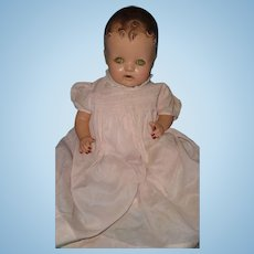 "Adorable 19"" Composition Bent Limb Baby Doll"