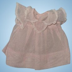 "Authentic Effanbee Dy-Dee Pink Swiss Dot Dress for 11""-13"" Baby Doll"