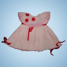 "Beautiful Dress for 20"" Shirley Temple Composition Doll"