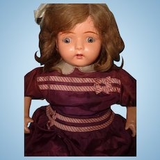 """26"""" Dolly Reckord w/ ALL 6 Cylinders Talking Phonograph Composition Doll ~ Works ~ Complete"""