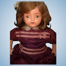 "26"" Dolly Reckord w/ ALL 6 Cylinders Talking Phonograph Composition Doll ~ Works ~ Complete"