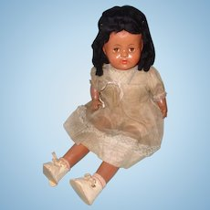 "Factory Original Large 25"" Black Composition Doll"