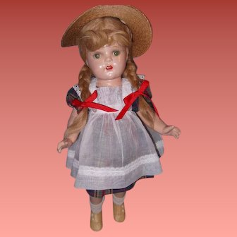 "Factory Original McGuffey Ana 20"" Composition Doll by Madame Alexander"