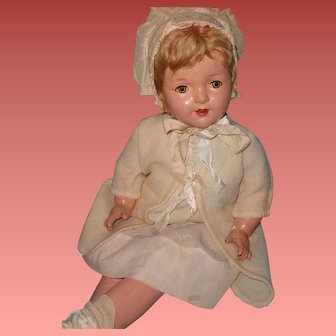 """Beautiful Large 28""""Composition Mama Doll ~ Pretty"""
