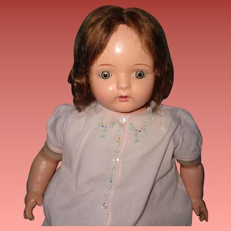"""30"""" Effanbee Mae Starr Talking/Working Phonograph Composition Doll w/Cylinder"""