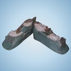 Large Oil Cloth Shoes for Bisque or Composition Doll