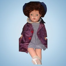 "Cute 21"" Composition Mama Doll ~ Factory Clothing"