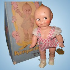 Factory Original Kewpie Composition Doll  w/ Box n Hang Tag ~ Rose O'Neill ~ Cameo
