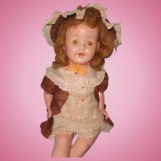"Pretty 27"" Factory Original Mama Doll ~ Needs a Little TLC"