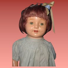 Pretty Rosebud Composition Doll By Horsman