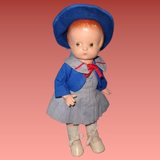 """Effanbee Patsy (Anne of Green Gables) 13"""" Composition Doll"""