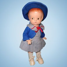 "Effanbee Patsy (Anne of Green Gables) 13"" Composition Doll"