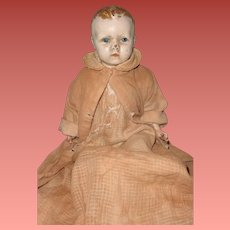 Early Straw Filled Composition Baby Doll