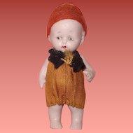 "Jointed Tiny 3"" German Doll in Original Clothing ~ Sooooo Cute"
