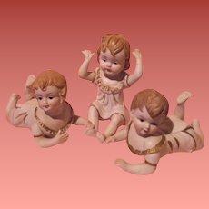 Bisque Piano Baby Doll Trio Set