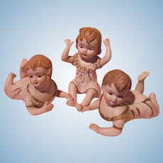 Bisque Piano Baby Doll Trio Set