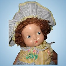 Beautiful Effanbee Composition Baby Doll ~ Sweet