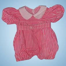 Effanbee Factory Romper for Large Composition Doll and Dy-Dee Baby too