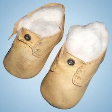 Nice German Doll Shoes for your Larger Composition or Bisque Doll