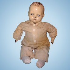 "Early 17"" Composition Baby Boy Doll"