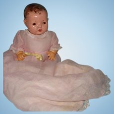 Pretty Long Organza Baby Doll Gown w Matching Long Slip for Composition or Bisque Doll ~ Dy Dee Too